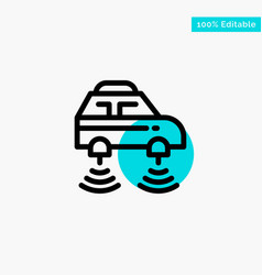 Car electric network smart wifi turquoise vector