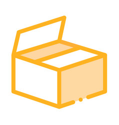 cardboard transportation box packaging icon vector image