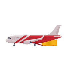 cargo jet airplane freight cargo transport flat vector image
