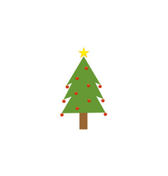 chrismast tree vector image
