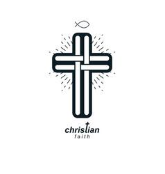 christian cross true belief religion symbol vector image vector image