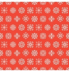 Christmas Seamless Pattern with Snowflakes vector