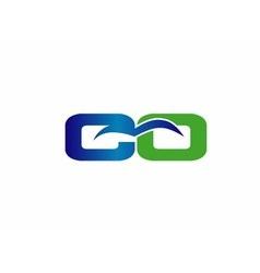 Co initial company group logo vector