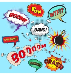 Comic speech bubbles design elements collection vector image