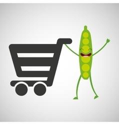 concept market buy peas vector image
