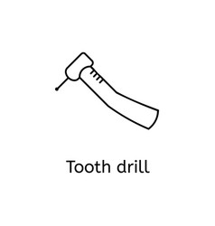 dental drill line icon for infographic website or vector image