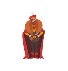 European majestic nobleman or king medieval vector