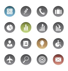 Finance and business icons vector image