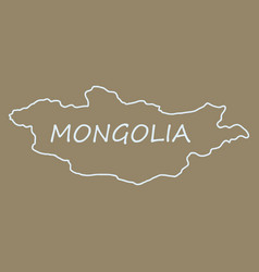 flag map of mongolia vector image