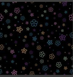 Floral pattern on black vector