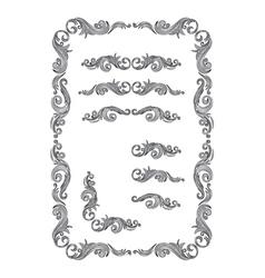 Frame set ornament vector
