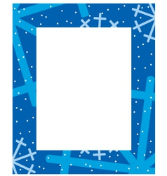 frame winter vector image