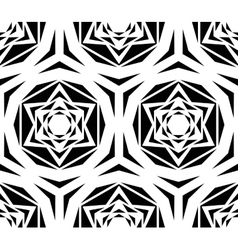 Geometric Black Rose Tile Pattern vector image