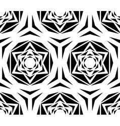 Geometric black rose tile pattern vector