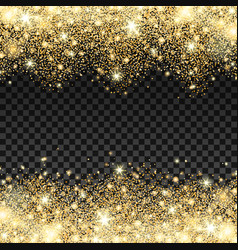 golden sparkles drop background vector image