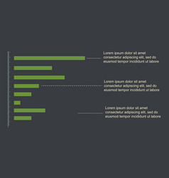 graph and data business design infographic vector image