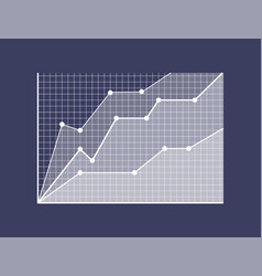 Graphic of growth with curves and thick apexes vector