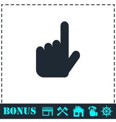 Hand cursor icon flat vector