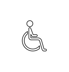 Handicapped and invalid line icon vector