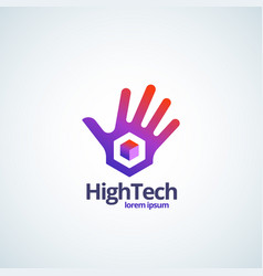 high technology absrtract sign symbol or vector image