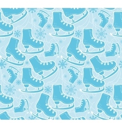 Ice skates pattern vector