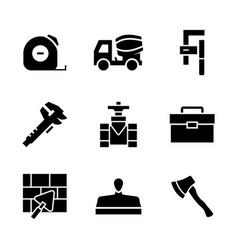 Icon set constructionrepair in flat style vector