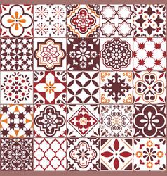 Lisbon azulejos tile pattern portuguese vector