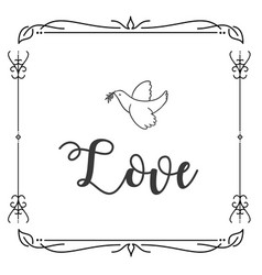 love bird abstract square design background vector image