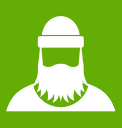 lumberjack icon green vector image