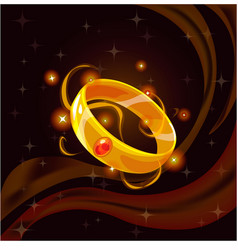 Magic golden ring vector