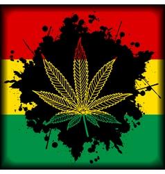 Marijuana Jamaica-background vector image vector image