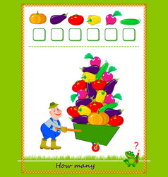 mathematical education for children count vector image