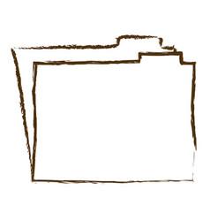 monochrome hand drawn silhouette of folder vector image