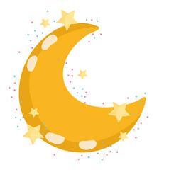 moon night weather cute vector image
