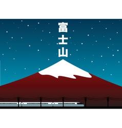 Mount fuji vector