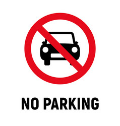 no car parking car forbidden icon vehicle vector image