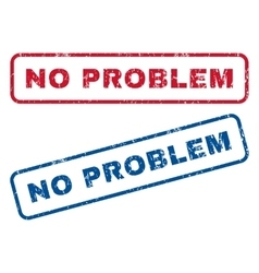 No Problem Rubber Stamps vector image