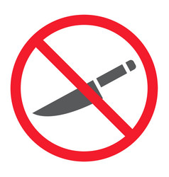no sharp glyph icon prohibition and forbidden vector image