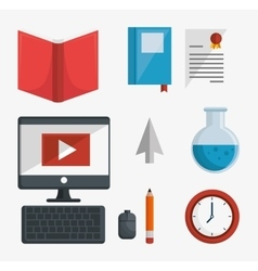 Online education isolated icon vector