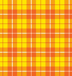 Orange yellow tartan fabric texture pattern vector