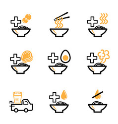 order ramen icon for restaurant vector image