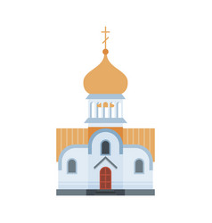 Orthodox church building ancient russian vector