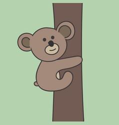 panda climbing on the tree vector image