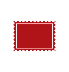 post-stamp vector image