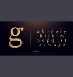 Set elegant gold colored metal chrome vector