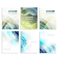 Set of abstract flyer template magazine brochure vector