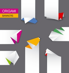 set of origami banners vector image vector image