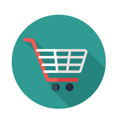 shopping mall cart isolated icon vector image