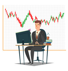 Stock market investment and trading concept vector