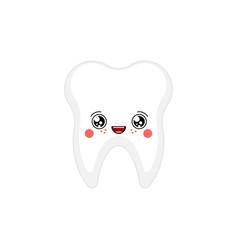 tooth kawaii cute cartoon funny teeth sweet vector image